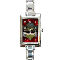 Illustration Drawing Vector Color Rectangle Italian Charm Watch by Amaryn4rt