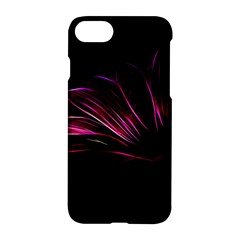 Purple Flower Pattern Design Abstract Background Apple Iphone 7 Hardshell Case by Amaryn4rt