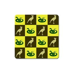 Snake Bird Square Magnet by AnjaniArt