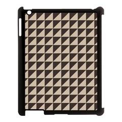 Brown Triangles Background Pattern  Apple Ipad 3/4 Case (black)