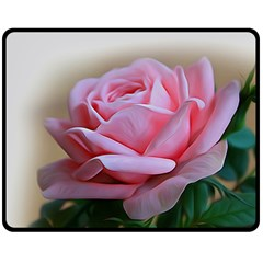 Rose Pink Flowers Pink Saturday Fleece Blanket (medium)  by Amaryn4rt