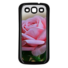 Rose Pink Flowers Pink Saturday Samsung Galaxy S3 Back Case (black) by Amaryn4rt
