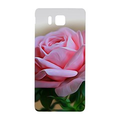 Rose Pink Flowers Pink Saturday Samsung Galaxy Alpha Hardshell Back Case by Amaryn4rt