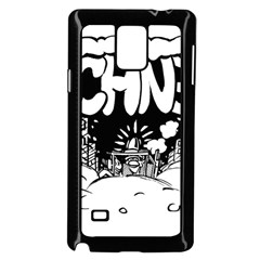 Snow Removal Winter Word Samsung Galaxy Note 4 Case (black) by Amaryn4rt