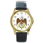 Scottish Rite Watch Round Gold Metal Watch