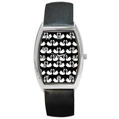 Swan Animals Barrel Style Metal Watch by AnjaniArt