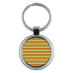 Striped Pictures Key Chains (round)  by AnjaniArt