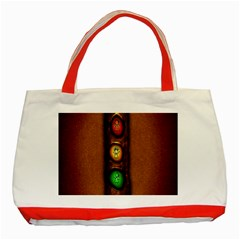 Traffic Light Green Red Yellow Classic Tote Bag (Red) by AnjaniArt