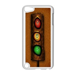 Traffic Light Green Red Yellow Apple Ipod Touch 5 Case (white) by AnjaniArt