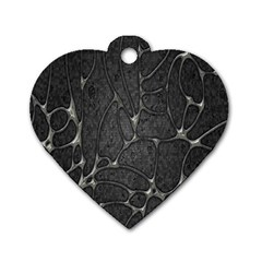 Texture Network Dog Tag Heart (two Sides) by AnjaniArt