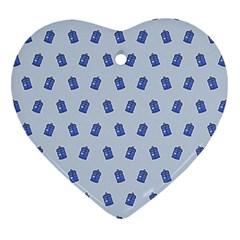 Tumblr Cute Tardis Heart Ornament (2 Sides) by AnjaniArt