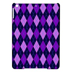 Tumblr Static Argyle Pattern Blue Purple Ipad Air Hardshell Cases by AnjaniArt