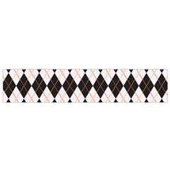 Tumblr Static Argyle Pattern Gray Brown Flano Scarf (small) by AnjaniArt