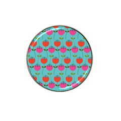 Tulips Floral Flower Hat Clip Ball Marker (10 Pack) by AnjaniArt