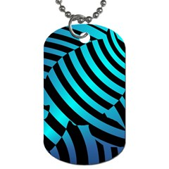 Turtle Swimming Black Blue Sea Dog Tag (two Sides) by AnjaniArt