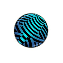 Turtle Swimming Black Blue Sea Hat Clip Ball Marker by AnjaniArt
