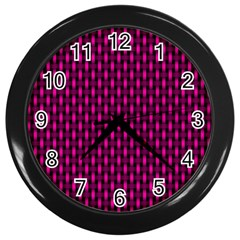 Webbing Woven Bamboo Pink Wall Clocks (black) by AnjaniArt