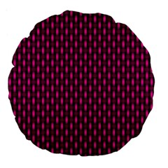 Webbing Woven Bamboo Pink Large 18  Premium Flano Round Cushions by AnjaniArt