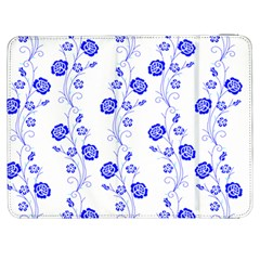 Vertical Floral Samsung Galaxy Tab 7  P1000 Flip Case by AnjaniArt
