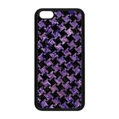 Houndstooth2 Black Marble & Purple Marble Apple Iphone 5c Seamless Case (black) by trendistuff