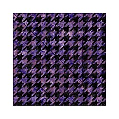 Houndstooth1 Black Marble & Purple Marble Acrylic Tangram Puzzle (6  X 6 ) by trendistuff