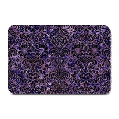 Damask2 Black Marble & Purple Marble (r) Plate Mat by trendistuff