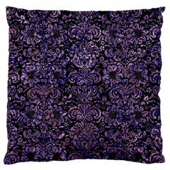 Damask2 Black Marble & Purple Marble Standard Flano Cushion Case (two Sides) by trendistuff