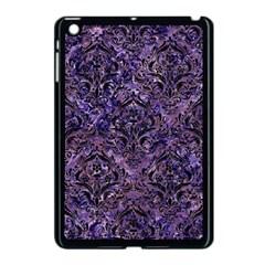 Damask1 Black Marble & Purple Marble (r) Apple Ipad Mini Case (black) by trendistuff