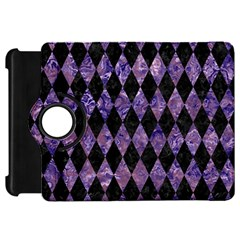 Diamond1 Black Marble & Purple Marble Kindle Fire Hd Flip 360 Case by trendistuff