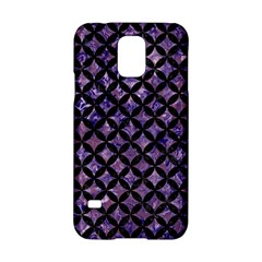 Circles3 Black Marble & Purple Marble (r) Samsung Galaxy S5 Hardshell Case  by trendistuff