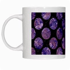Circles2 Black Marble & Purple Marble White Mug by trendistuff