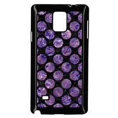 Circles2 Black Marble & Purple Marble Samsung Galaxy Note 4 Case (black) by trendistuff
