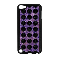 Circles1 Black Marble & Purple Marble (r) Apple Ipod Touch 5 Case (black) by trendistuff