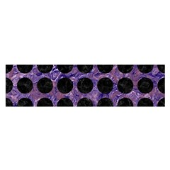 Circles1 Black Marble & Purple Marble (r) Satin Scarf (oblong) by trendistuff