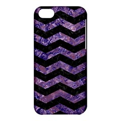 Chevron3 Black Marble & Purple Marble Apple Iphone 5c Hardshell Case by trendistuff
