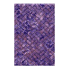 Brick2 Black Marble & Purple Marble (r) Shower Curtain 48  X 72  (small) by trendistuff
