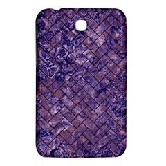 Brick2 Black Marble & Purple Marble (r) Samsung Galaxy Tab 3 (7 ) P3200 Hardshell Case  by trendistuff