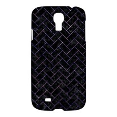 Brick2 Black Marble & Purple Marble Samsung Galaxy S4 I9500/i9505 Hardshell Case by trendistuff