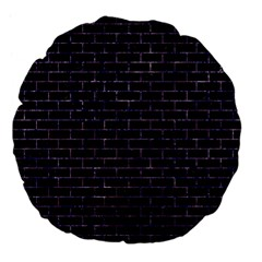 Brick1 Black Marble & Purple Marble Large 18  Premium Flano Round Cushion  by trendistuff