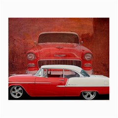Classic Car Chevy Bel Air Dodge Red White Vintage Photography Small Glasses Cloth by yoursparklingshop