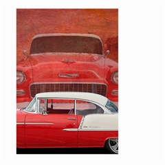 Classic Car Chevy Bel Air Dodge Red White Vintage Photography Large Garden Flag (two Sides) by yoursparklingshop