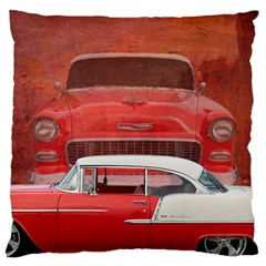 Classic Car Chevy Bel Air Dodge Red White Vintage Photography Standard Flano Cushion Case (one Side) by yoursparklingshop