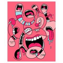 Big Mouth Worm Drawstring Bag (small) by Jojostore