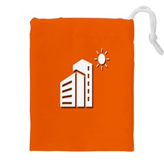 Building Orange Sun Copy Drawstring Pouches (XXL) by Jojostore