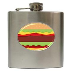 Cake Cute Burger Copy Hip Flask (6 Oz) by Jojostore