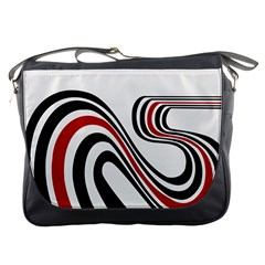Curving, White Background Copy Messenger Bags by Jojostore