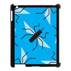 Mosquito Blue Black Apple Ipad 3/4 Case (black) by Jojostore
