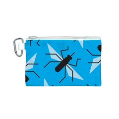 Mosquito Blue Black Canvas Cosmetic Bag (s) by Jojostore