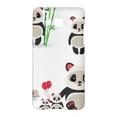 Panda Cute Animals Samsung Galaxy A5 Hardshell Case  by Jojostore