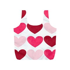 Valentine S Day Hearts Full Print Recycle Bags (S)  by Jojostore